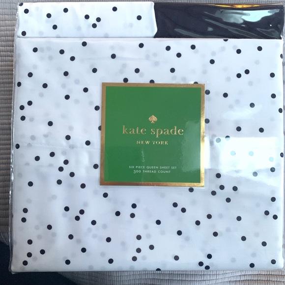 Kate Spade Bedding Kate Spadescatter Dot Queen Sheet Set 6 Piece Poshmark